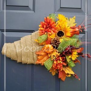 Fall Cornucopia wreath 🍁🍂🌻